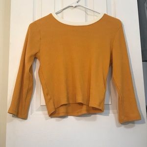 FOREVER 21 Mustard Large Girls Knit Sweater